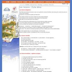 ETAPE 4 EXERCICE DE PREPARATION Les liaisons - Fiche élève