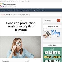 Fiches de production orale : description d'image