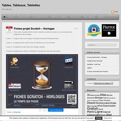 Fiches projet Scratch – Horloges