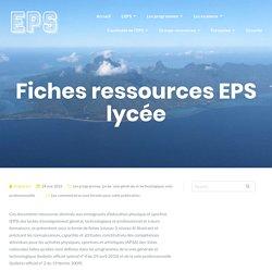 Fiches ressources EPS lycée – EPS