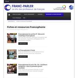 Fiches et ressources Francophonie