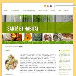 Fiches - santé-habitat.be