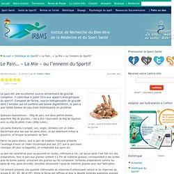 Fiches Sport Santé Nutrition : Le pain.