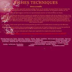 FICHES TECHNIQUES DES GRANDS CLASSIQUES