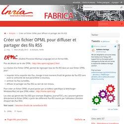 Créer un fichier OPML pour diffuser et partager des fils RSS