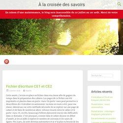 Fichier d'écriture CE1 et CE2 - À la croisée des savoirs