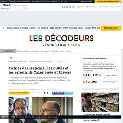 Fichier des Français : les oublis et les erreurs de Cazeneuve et Urvoas