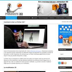 Fichier 3D et logiciel pour imprimante 3D