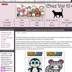 Fichier modèles Pixel art pour les temps d'autonomie - Chez Val 10