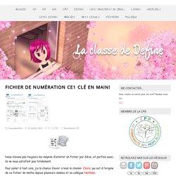 Fichier de numération CE1 clé en main! - laclassededefine.fr
