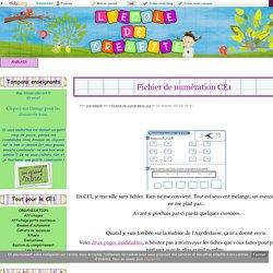 Fichier de numération CE1