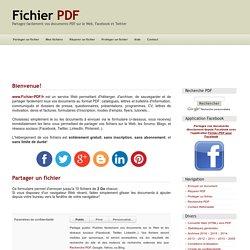 Partagez vos documents PDF sur le Web et les réseaux sociaux