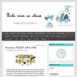 Fichier PICOT CM1-CM2 – Lala aime sa classe