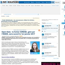 Open Data : le fichier SIRENE, géré par l'INSEE, sera ouvert le 1er janvier 2017
