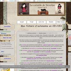 Mes fichiers d'autonomie en CE1/CE2