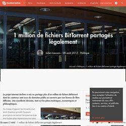 1 million de fichiers BitTorrent partagés légalement