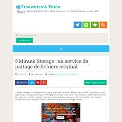 5 Minute Storage : un service de partage de fichiers original