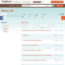Les fichiers de l'utilisateur Manon_SR