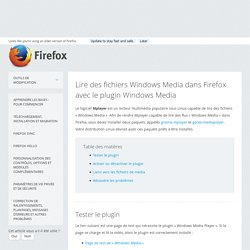 Lire des fichiers Windows Media dans Firefox avec le plugin Windows Media