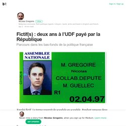 Fictif(s) : deux ans à l'UDF payé par la République