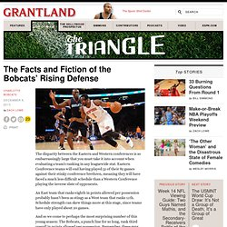 The Facts and Fiction of the Bobcats' Rising Defense «