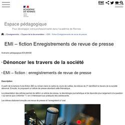 EMI – fiction Enregistrements de revue de presse