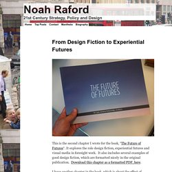From Design Fiction to Experiential Futures