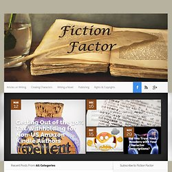 Writing Tips for Fiction Writers