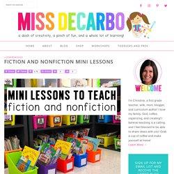 Fiction and Nonfiction Mini Lessons (Meg Pettigano)
