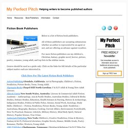 Fiction Book Publishers - MY PERFECT PITCHMY PERFECT PITCH