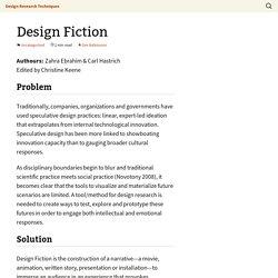 Design Research Techniques
