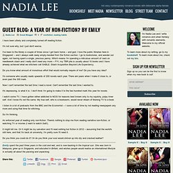 Guest Blog: A Year of Non-Fiction? by Emily « Nadia Lee :: Romance Writer - Blog