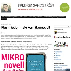 Flash fiction – skriva mikronovell