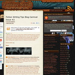 Fiction Writing Tips Blog Carnival Issue #2