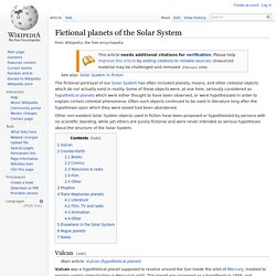 Fictional planets of the Solar System