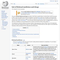 List of fictional medicines and drugs