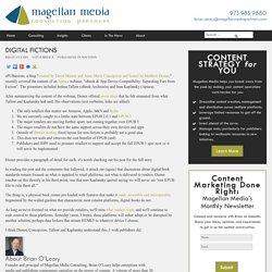 Digital fictions - Magellan Media Partners