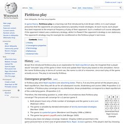 Fictitious play