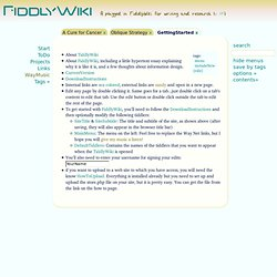 FiddlyWiki - A plugged in TiddlyWiki for writing and research (v. 1.09)