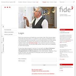 fide / Login
