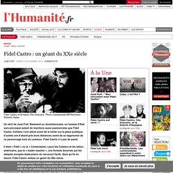 Fidel Castro : un géant du XXe siècle