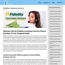 Fidelity Customer Service