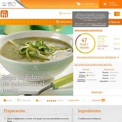 Sopa de fideos de calabacín al pesto - Nestlé Cocina