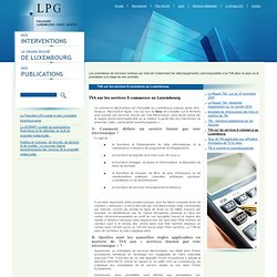 Fiduciaire Luxembourg : TVA et E-commerce au Luxembourg
