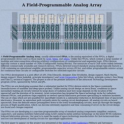 Field-Programmable Analog Array