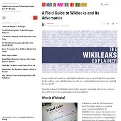 A Field Guide to Wikileaks and Its Adversaries