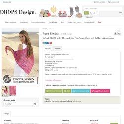 """Rose Fields / DROPS 154-12 - Virkad DROPS sjal i """"Merino Extra Fine"""" med bågar och dubbel stolpgrupper. - Free pattern by DROPS Design"""