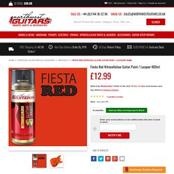Fiesta Red Nitrocellulose Guitar Paint / Lacquer 400ml
