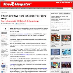 Fifteen zero days found in hacker router comp romp