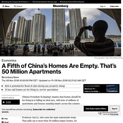 A Fifth of China's Housing Is Empty. That's 50 Million Homes